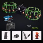 Gesture Remote Control Quadcopter Real-time Aerial Mobile Phone Remote Control Tumbling Fixed High Combat Drone Green 720P aerial version