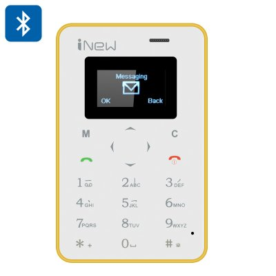 iNew Mini 1 Credit Card Phone (Yellow)