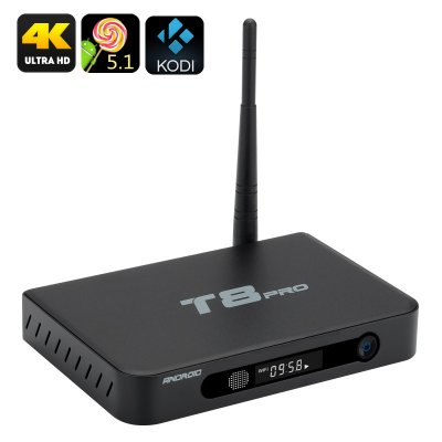 T8 Pro Android TV Box (Black)