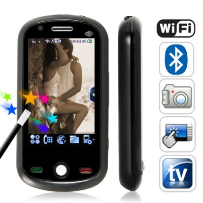 Ultra Touch - 3 Inch Touchscreen Dual SIM WiFi Media Cellphone