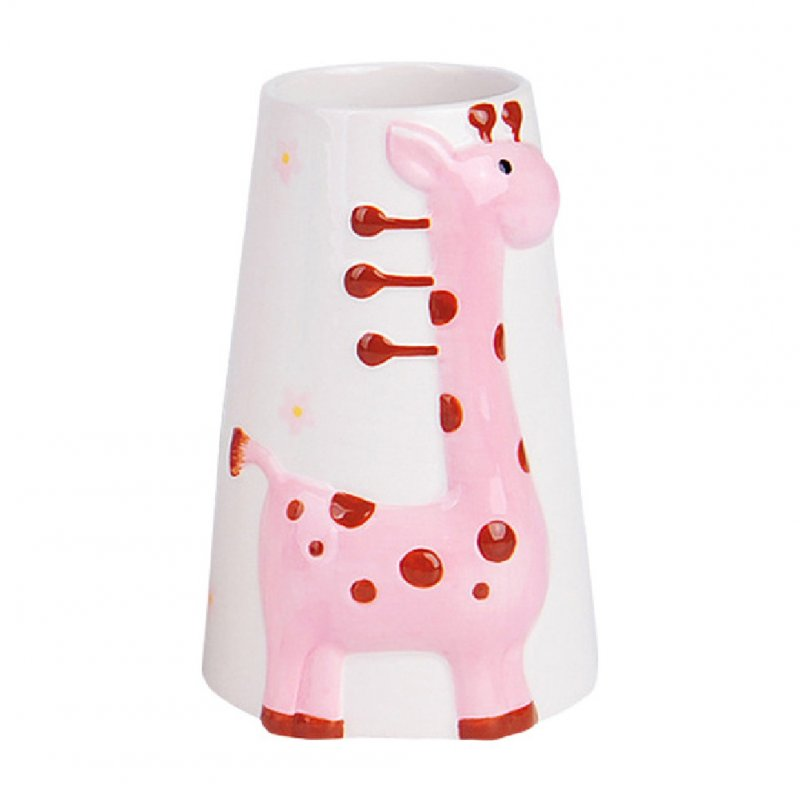 Giraffe Pattern Water Bottle Holder Hamster Pet Vertical Ceramic Kettle  Bracket 13cm