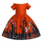 Girl Kids Full Dress Princess Style Stage Costume for Halloween Christmas Formal Dress  WS006 red 100cm