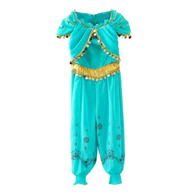 Girl Summer Cute Princess Dress Siamese for Halloween Festival Party  D55_150cm