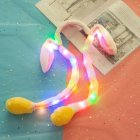 Girl Women Cute Moving Luminescent Rabbit Ear Hair Hoop Plush Airbag Hair Band Ornaments Yellow luminous with zipper