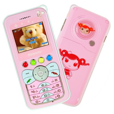 Kids Pink Cellphone - Simple And Safe Mobile Phone
