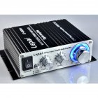 Mini Power Amplifier LP 2020A Digital Amplifier Class D High Quality Amplifier Black + US standard12V3A power supply
