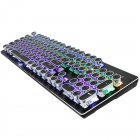 Wired Gaming Keyboard Mechanical Feeling Multi Backlit Effect Mode USB 104 Keycaps for PC and Mac Gamers black