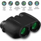 10x25 Compact HD Binoculars Portable Telescope for Bird Watching Traveling Concerts Sightseeing black