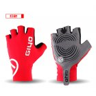 Giyo Cycle Half  finger Gloves Bicycle Race Gloves Of Bicycle Mtb Road Glove red L
