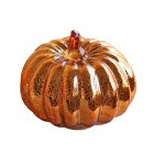 Glass Pumpkin Lamp for Halloween Ghost Party Festival Decorations  Gold 16.3*14cm