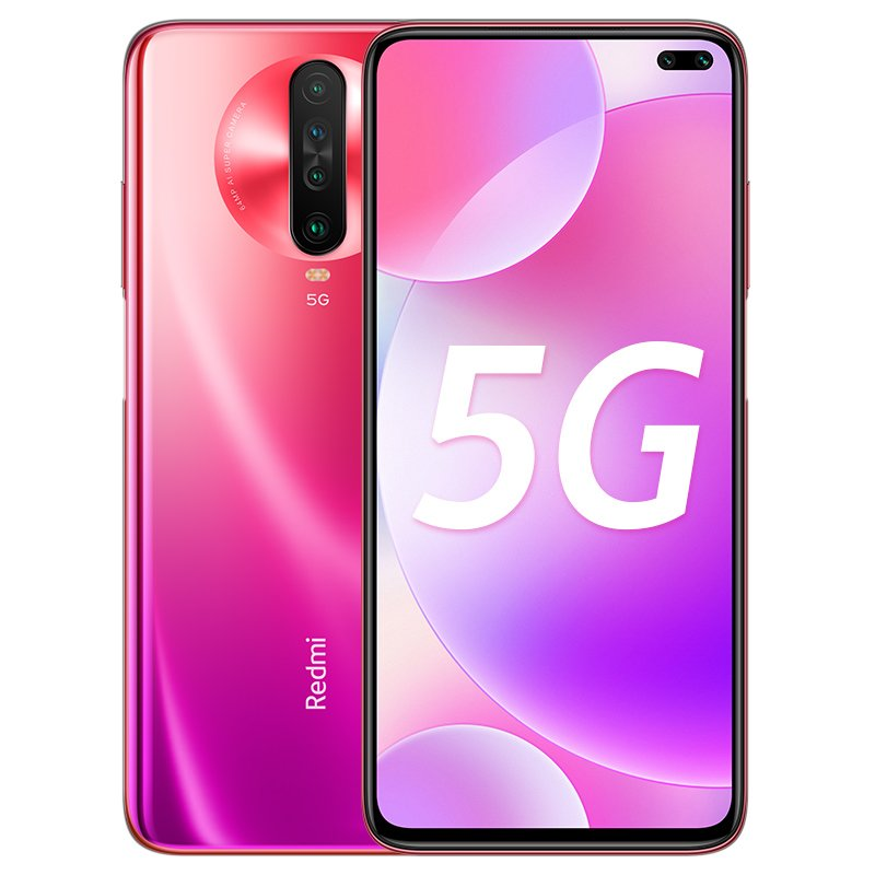 Global ROM Xiaomi Redmi K30 5G Smartphone Snapdragon 765G Octa Core 64MP Quad Camera 120HZ Fluid Display 4500mAh NFC red_6+128G