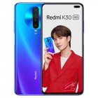 Global ROM Xiaomi Redmi K30 5G Smartphone Snapdragon 765G Octa Core 64MP Quad Camera 120HZ Fluid Display 4500mAh NFC blue 8 128G