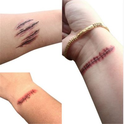 Horror Fake Bloody Wound Tattoo Sticker