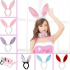 GoaPly Cute Bendable Bunny Ears Headbands Pack of 6 Hairbands in Assorted Color Easter Holiday Cosutume Accessories Party Favors