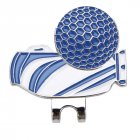 Golf Ball Clip Delicate Craft Markers Unique Markings Golf Cap Clip  blue