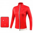 Golf Clothes Autumn Winter Wind Coat Female Sport Jacket Long Sleeve Top red_L