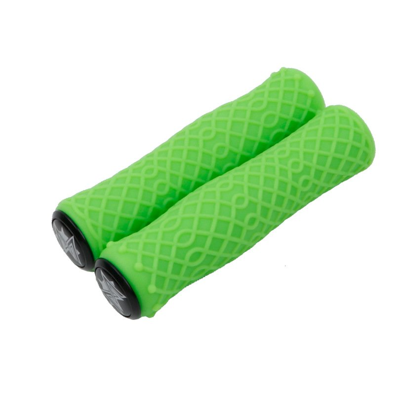 Mountain Bike Handlebar Cover Ultralight Shock-absorbing Dirty-resisting Non-slip Silicone Camouflage Handle Cover  green