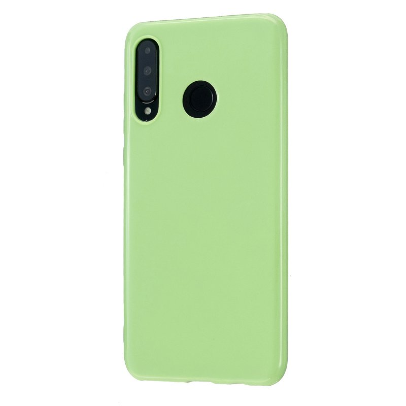For HUAWEI P30/P30 Lite/P30 Pro Cellphone Case Simple Profile Soft TPU Scratch Proof Phone Shell Fluorescent green