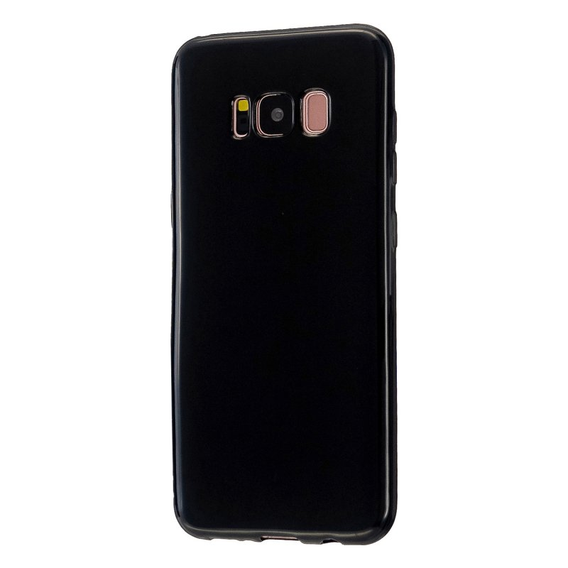 For Samsung S8/S8 Plus Smartphone Case Soft Hands Feel Precise Cutouts Anti-scrathc Mobile Phone TPU Shell Bright black