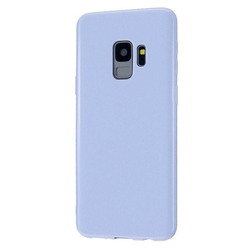 For Samsung S9/S9 Plus Mobile Phone Cover Classic Plain Design Classic Smartphone Case Soft TPU Phone Shell Taro purple