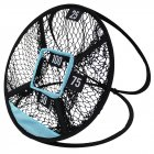 Golf Swing Net Pop Up Golf Chipping Net Indoor Outdoor Golf Practice Trainer Cages Mats Golfing Target black