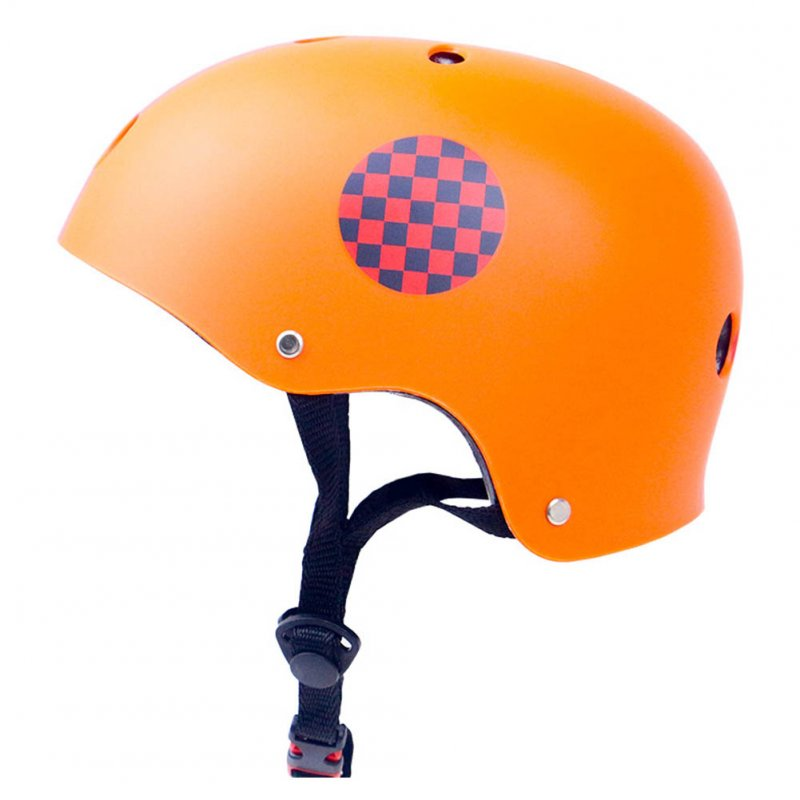 Skate Scooter Helmet Skateboard Skating Bike Crash Protective Safety Universal Cycling Helmet CE Certification Exquisite Applique Style Orange_XL