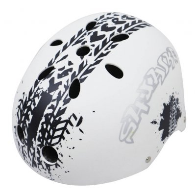 Children Skateboard Helmet Skating Stunt Bike Crash Protective Safety Helmet CE Authentication Exquisite Applique Style Black and white_L