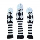 Golf Wooden Pole Head Cover Wool Knitting Golf Cover Set Sky blue