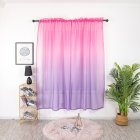 Gradient Color Window Curtain Tulle for Home Bedroom Living Room Kids Room Balcony  Rose purple gradient_1 * 2 meters high