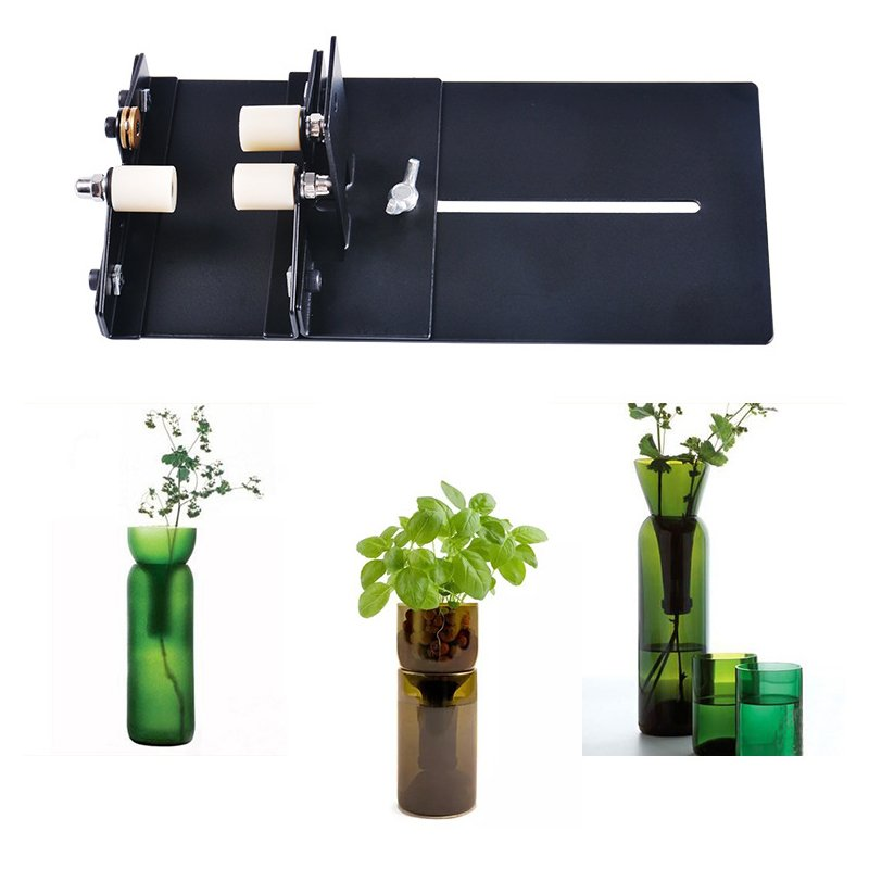 Grass Bottle Cutter Tool Wine Beer Glass Cutter for DIY Grass Cutting Tool Professional black
