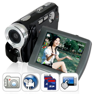 Dual SD Digital Video Camcorder