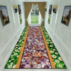 Green Rectangle Plant Printing Non Slip Mat for Bedroom Living Room Table Kitchen Corridor 12_80cm