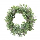 Green Simulate Longleaf Luckyweed Flower Wreath Party Decor Outside Diameter 40CM green