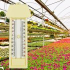 Greenhouse Max Min Press Thermometer Traditional Temperature Monitor  40 to 50 Degree Milky white