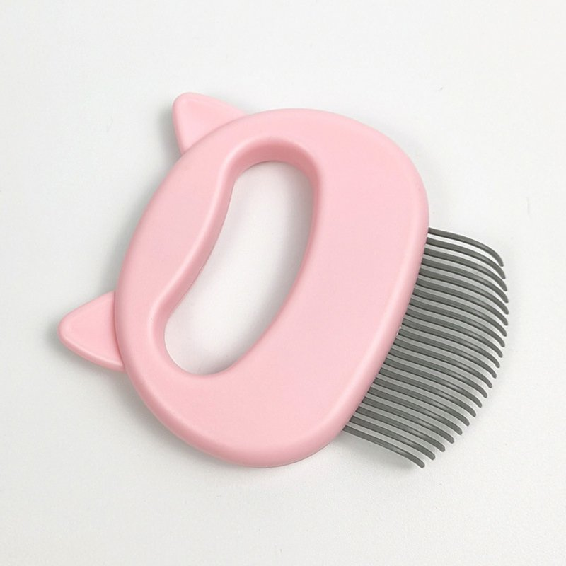 Grooming Brush Massage Comb for Dog Cat Floating Hair Removing Cleaning Tool L_Pink