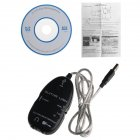 Guitar Cable Audio USB Link Interface Adapter for MAC/PC Music Recording Accessories black