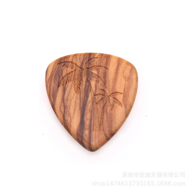 Guitar Picks Plectrum Solid Wood Fingerpicks Musical Instrument Accessories coconut tree