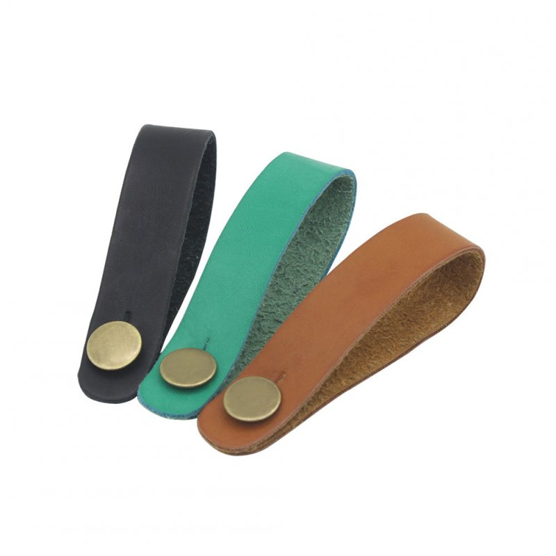 Guitar Strap Holder Leather Button Safe Lock for Acoustic Electric Classic Guitar Bass Accessories Random colors_1 set of 2