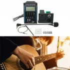 Guitarra Pickup 5 Band Acoustic Guitar Preamp EQ Equalizer Piezo Pickup Amplifier LCD Tuner   HI FI MIC Microphone Blue   black