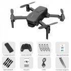 H1 Mini Remote Control Drone Arms Foldable Portable 2.4GHz RC Quadcopter Black without camera