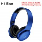 H1 Pro Bluetooth Wireless Headset HIFI Stereo Noise Reduction Gaming Earphone with Microphone H1 blue