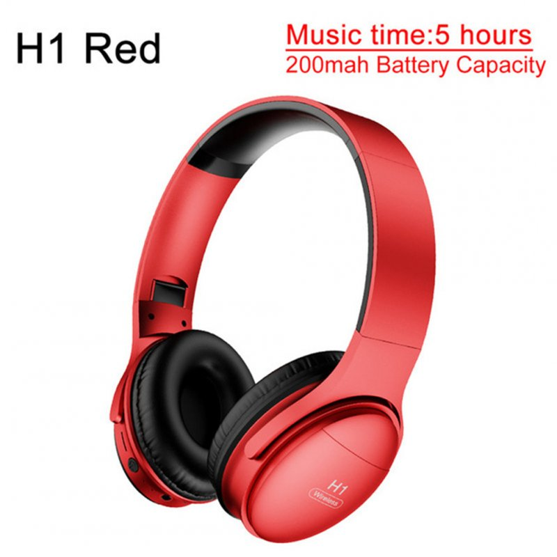 H1 Pro Bluetooth Wireless Headset HIFI Stereo Noise Reduction Gaming Earphone with Microphone H1 red