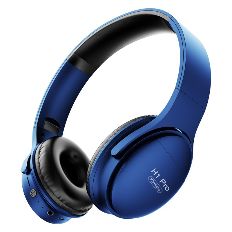 H1 Pro Wireless Gaming Headset Bluetooth V5.0 HD HIFI Stereo Noise Canceling Headphone with TF Card Slot blue