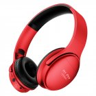 H1 Pro Wireless Gaming Headset Bluetooth V5.0 HD HIFI Stereo Noise Canceling Headphone with TF Card Slot red