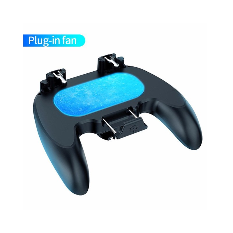H12 Game Controller Joystick Semiconductor Cooling Trigger Gamepad For iPhone Android Mobile Phone black