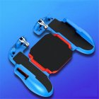 H5 Portable PUBG Mobile Phone Game Controller Joystick Cooling Fan Gamepad for IOS Android Blue red
