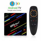 H96 Max Android 8 1 Smart TV Box RK3328 Quad Core 64bit Cortex A53 4GB 32GB TV Box   EU Plug