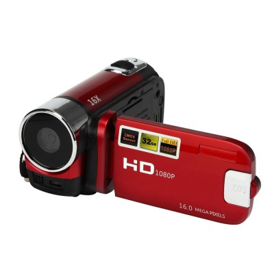 HD 1080P 16M 16X Digital Zoom Video Camcorder TPT LCD Camera DV Home Camera Red AU plug