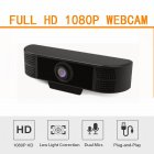 HD 1080P Webcam Camera with MIC Clip-on  USB2.0/3.0 for Computer PC Laptop Professional Black 1080P