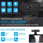 HD 1080P Webcam Q6 Computer Camera with Microphone Driver-free Video Webcam HD1080P